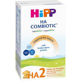 HiPP Бебешко адаптирано хипоалергенно мляко HA 2 Combiotic 350 гр. 6 м.+